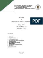 Syllabus de a Aplicada a La Investigacio 2007-II