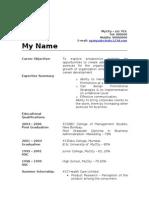 Frehsher Marketing Resume Model 132