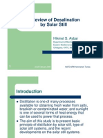 A Review of Desalination by Solar Still