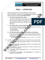PEB II  -  LITERATURA  -  SIMULADO 2012 -VCSIMULADOS.COM.BR
