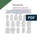 Chronological Bible Reading Plan