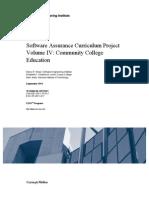 Software Assurance Curriculum Project Volume IV