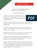 INMIGRACION - IV Confer en CIA Ministerial Europea Sobre Integracion (Zaragoza 16-04-2010)