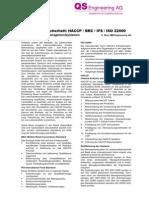 D-Lebensmittelsicherheit HACCP-BRC-IFS-ISO 22000