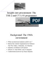 (1998) Insights into Defence Procurement TSR-2 v CVA-01