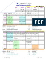BSCS - Classes Schedule (Fall-2011)