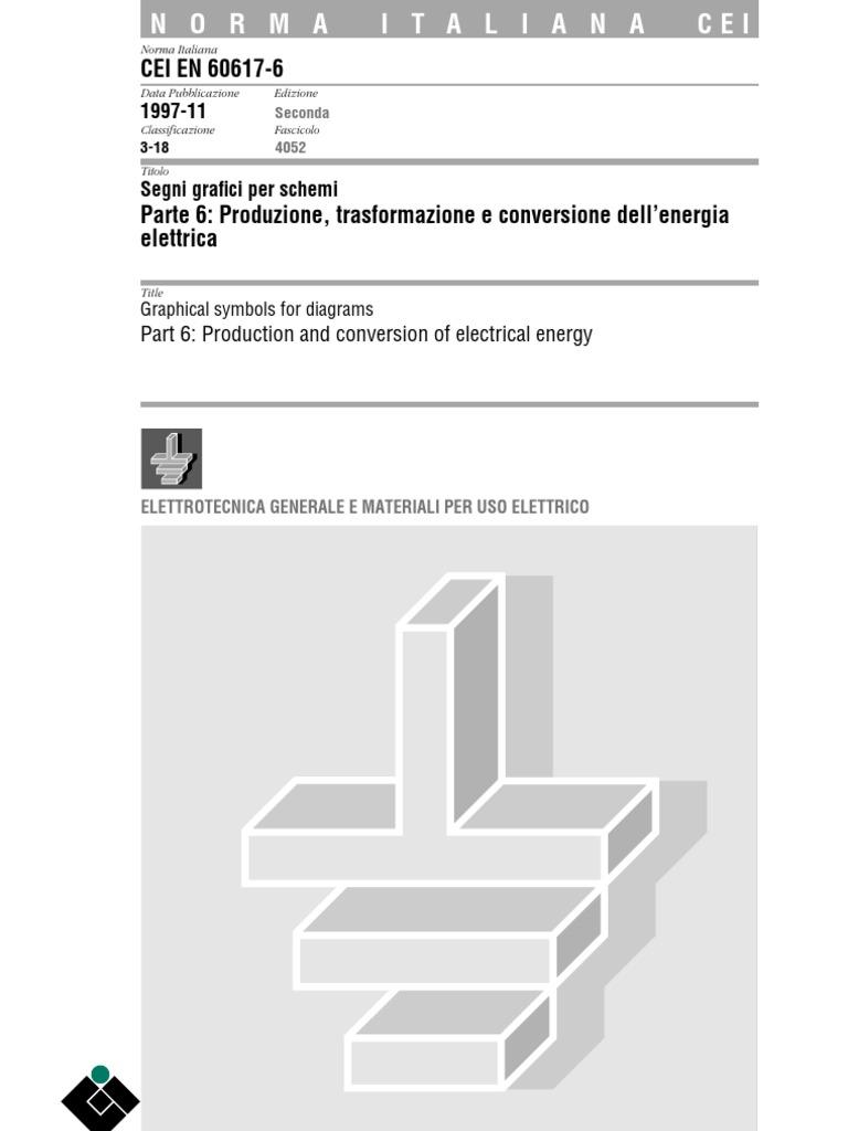 Schemi Elettrici Lettura : Cei segni grafici per schemi produzione trasformazione e