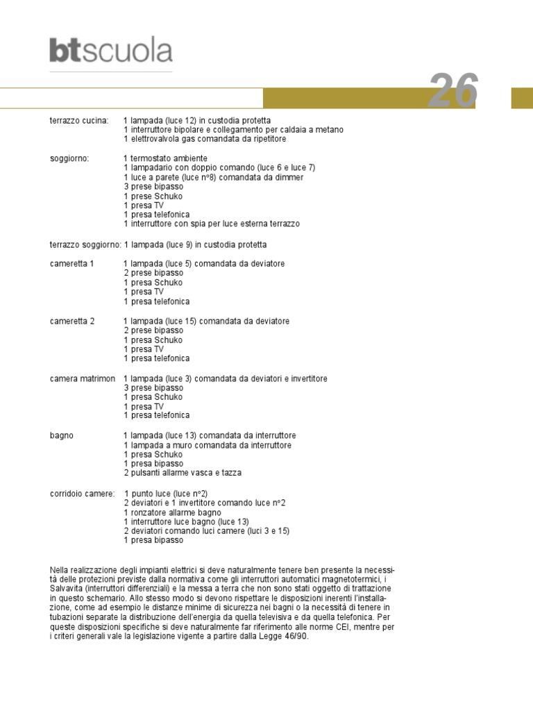 Btscuola bticino 26 schemario impianti elettrici simboli 30 for Simboli elettrici cei