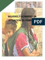 Mujeres Hombres Pobreza