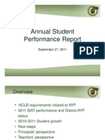 Annual Student Performance Report - 9-27-11