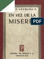 AHUMADA, Jorge. en Vez de La Miseria