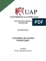 Control de Goteo Venoclisis