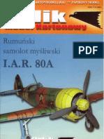 [Paper Model] Airplane] [Orlik] IAR-80A