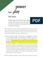 Power of Play Soundings Essay