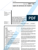 NBR 07190 - 1997 - Projeto de Estruturas de Madeira- NB 11
