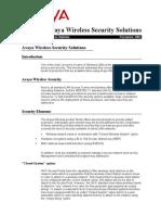 Avaya Wireless Security Solutions