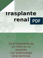 tecnica qx de trasplante renal