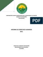 Informe CAHUCOPANA Derechos Humanos 2011