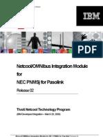 NEC PNMSjforPasolink NIM 02 Datasheet