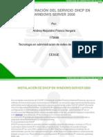 Configuracion de DHCP en Windows Server 2008