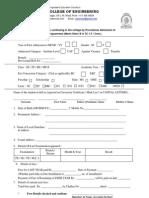 Admission Form e