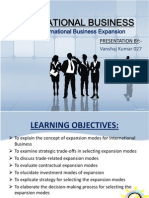 IB Modes of International Bussns Exp