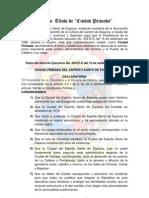 ESPARZA:Decreto de CIUDAD PRIMADA - Año 1996