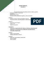 Comisión 4, matriz comparativa propuesta de Estatuto Autonómico de Cochabamba