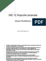 IAS 12 Impozite amanate