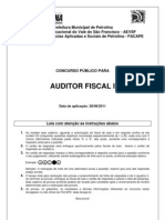 Prova Auditor Fiscal