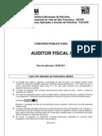 Prova Auditor Fiscal