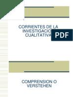 Corrientes de La Investigacion Cualitativa