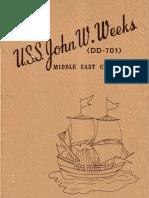 USS John W. Weeks DD 701 Ships Book for 1967