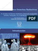 Normativa sobre Desechos radiactivos, por José Antonio Lozada
