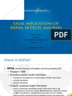 Legal Implications of HIPAA, HITECH and BAAs