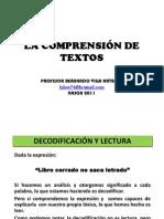 2. LA COMPRENSIÓN DE TEXTOS