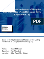 Study of Self-Optimization of Neighbor Cell Listing for eNodeB in Long Term Evolution (LTE)