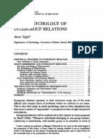 Social Psychology of Inter Group Relations - Henri Tajfel