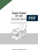DF-520 Duplo Folder Instruction Manual