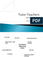 Tutor Teacher Session Three TGA