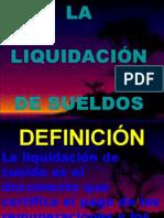 Definicion de La Liquidación de Sueldo