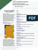 Filosofía política contemporánea. Controversias sobre civilización, imperio y ciudadanía