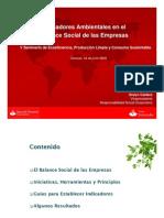 Indicadores Ambientales en el Balance Social de las Empresas, por Oralyn Caldera