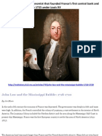 John Law the Man That Bankrupted France 18th Century Sept 2011