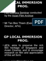 GP Local Immersion Programme Slides