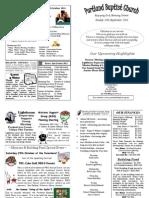 PBC Bulletin - September 25