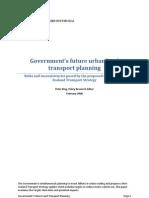 Govts Future Urban Land Transport Planning