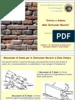 Meccanismi Di Danno Per Le Costruzioni Murarie in Zona Sismica