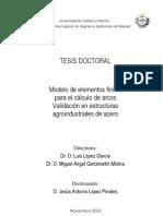 195 Modelo de elementos finitos para el cálculo de arcos