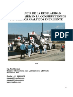 Importancia de la Regularidad Superficial (IRI) en la Construcción de Pavimentos Asfálticos en Caliente